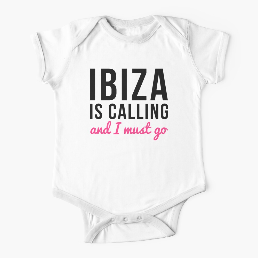 Ibiza Is Calling Music Quote Baby One-Piece