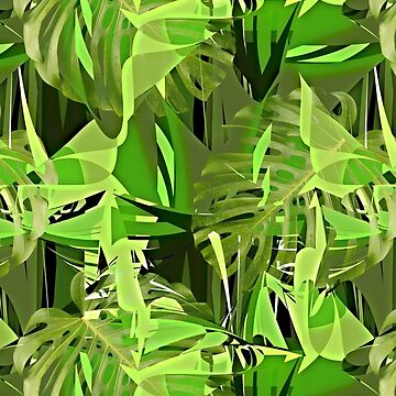Tropical Jungle Greens by Gravityx9
