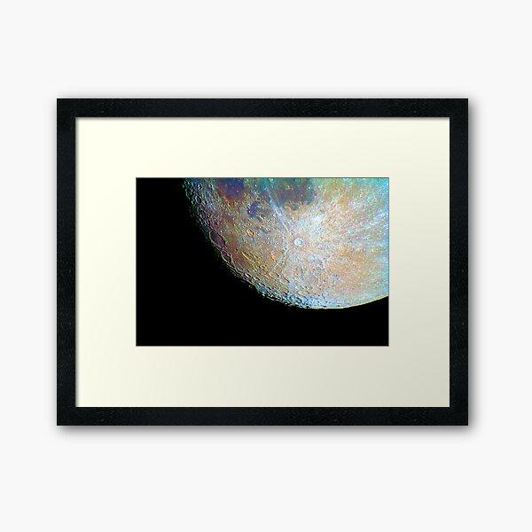 lunar south region Framed Art Print