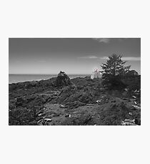 Amphitrite Lighthouse in Black and White Photographic Print
