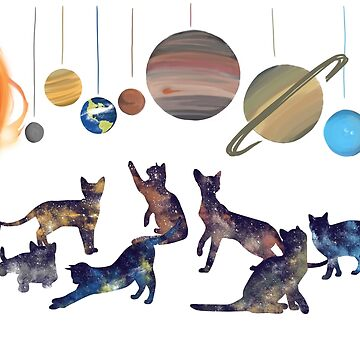 Galaxy Cats  by 404pagenotfound