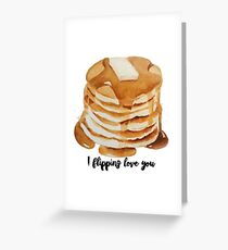 i flipping love you Greeting Card