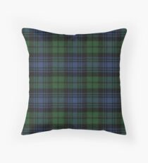 Black Watch Ancient  Original Scottish Tartan Throw Pillow