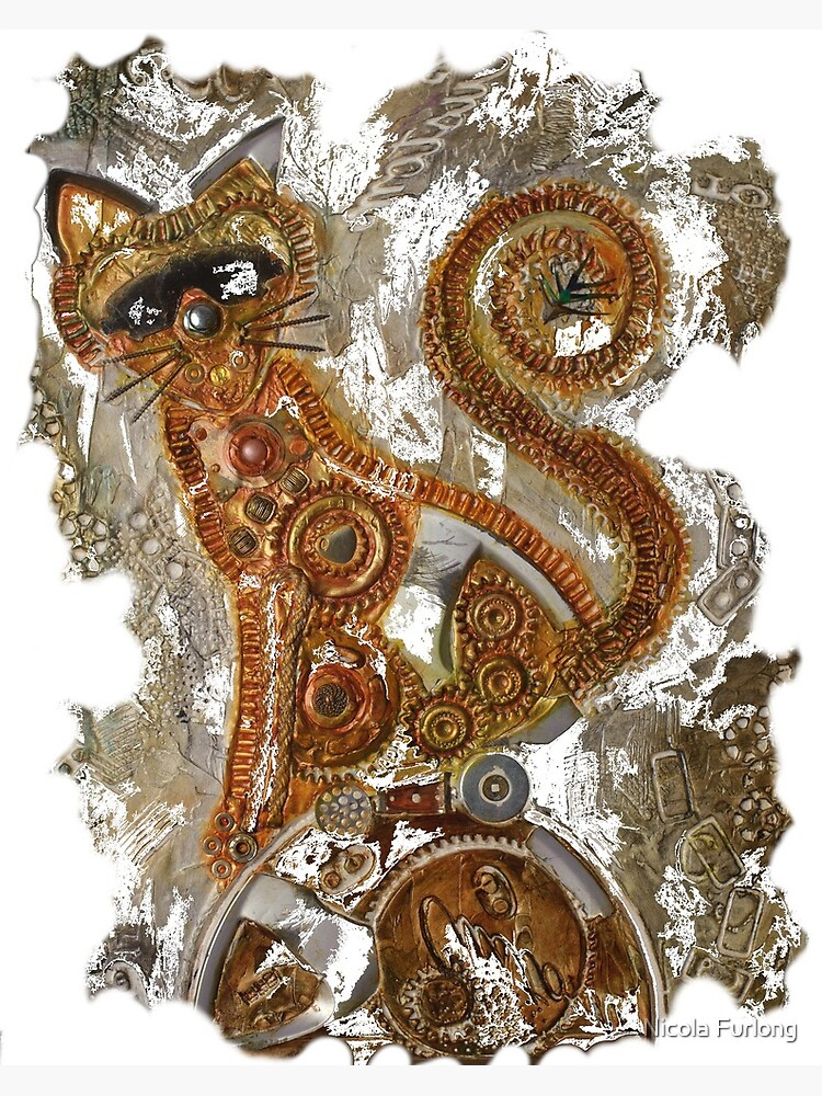 CRAZY STEAMPUNK CAT by nicolafurlong