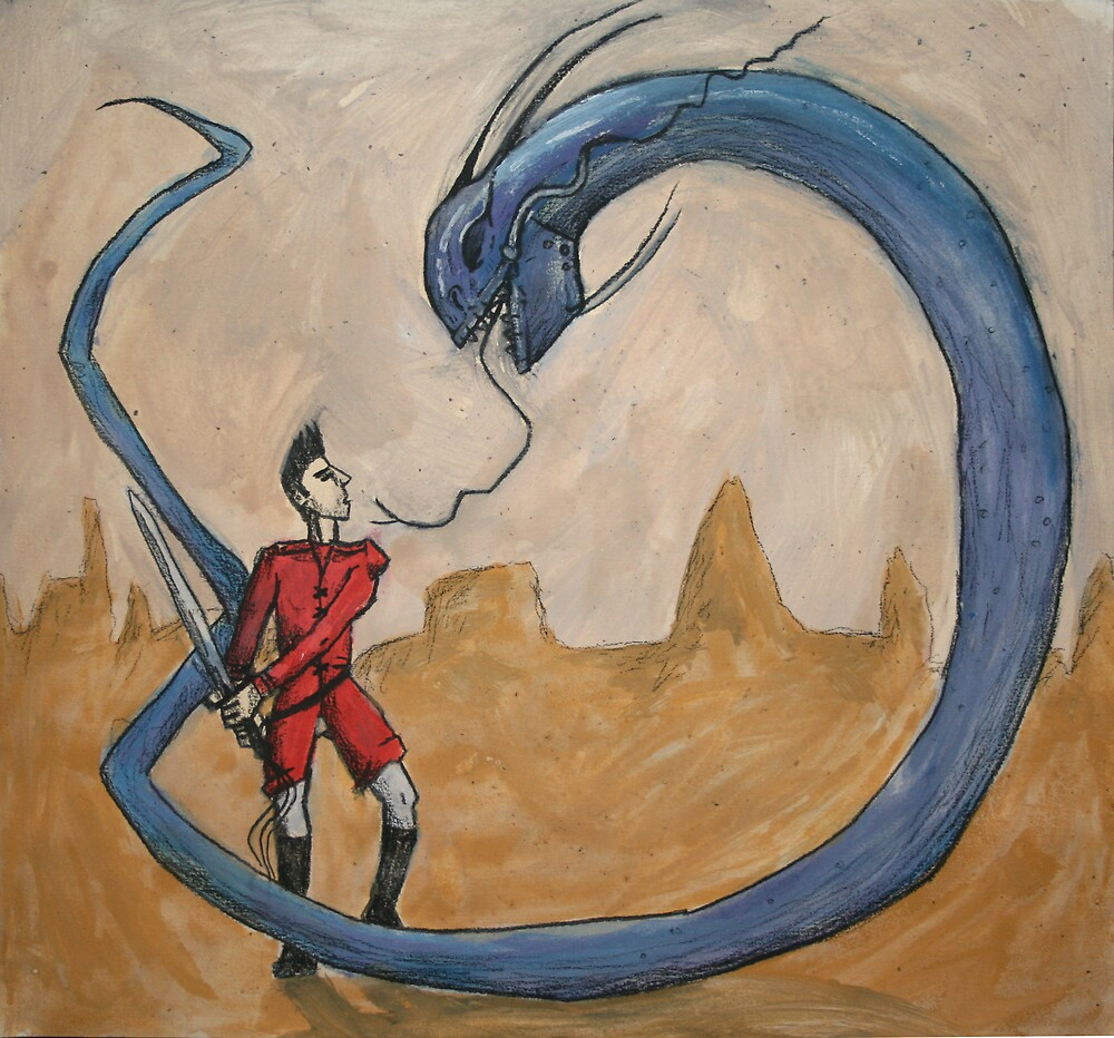 Dandan VS the Monstrous Land Eel by Mathew Reed