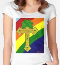 Shamrock Cross Women's Fitted Scoop T-Shirt
