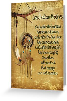 Native american indian cree prophecy greeting cards by irisangel native american indian cree prophecy by irisangel m4hsunfo