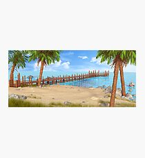 Dock Landscape Photographic Print