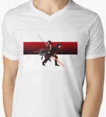 Praetorian guard fight scene V-Neck T-Shirt