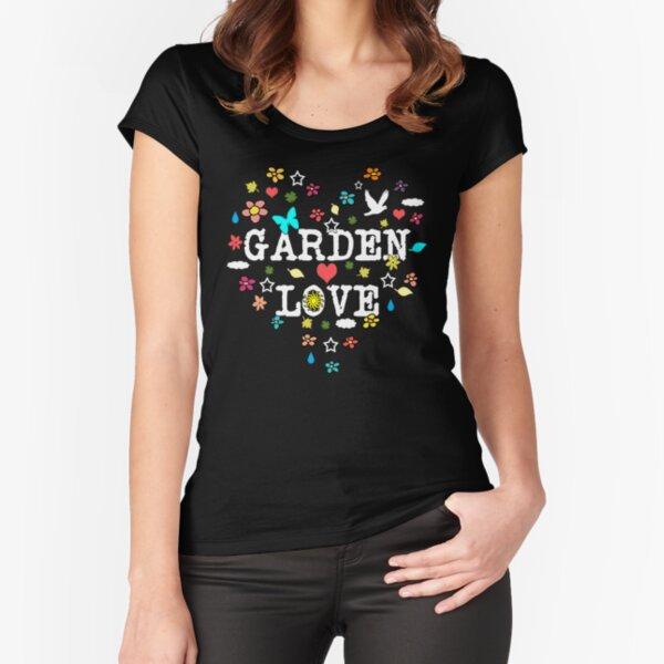 Garden Love Valentine Heart for Gardeners Fitted Scoop T-Shirt