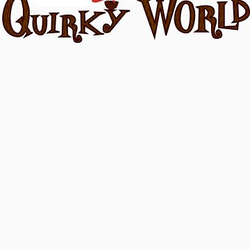 Quirky World Logo Tee by quirkyworld