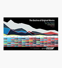 The Decline of Original Movies — Infographic Photographic Print