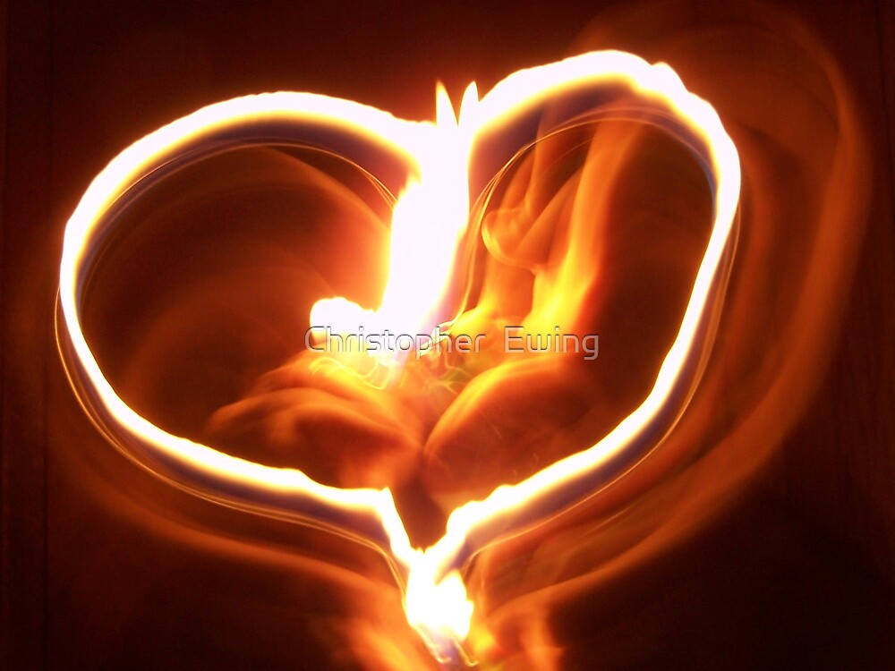 heart on fire by Christopher  Ewing