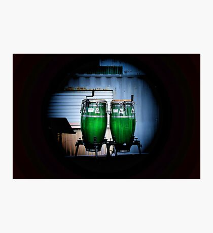 Green Drum Photographic Print