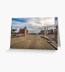 View Of Roald Dahl Plass Cardiff Greeting Card