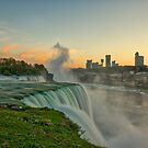 Sunset at American Falls by Adam Northam