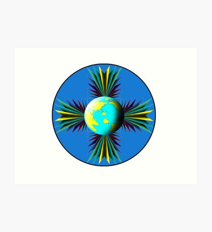 Earth Logo for Sale Art Print