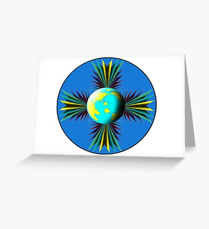 Earth Logo for Sale Greeting Card