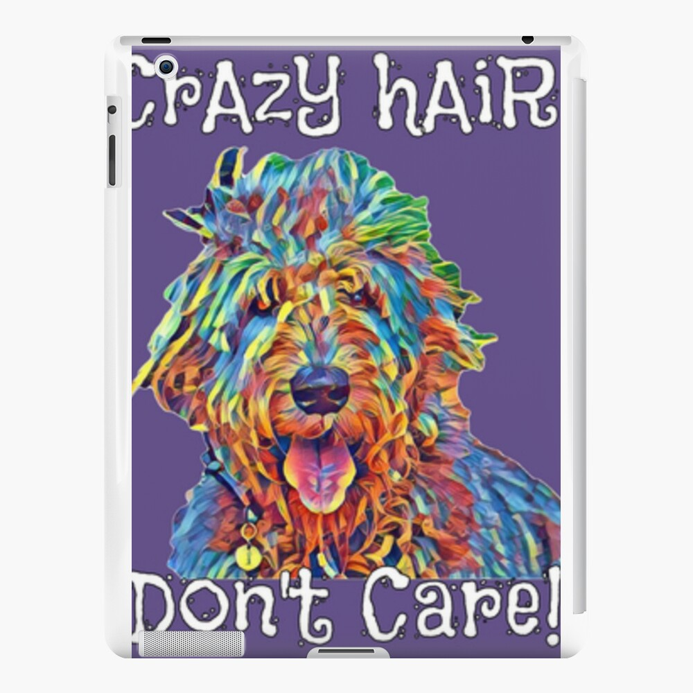 CrAzY hAiR Don't Care!! iPad Cases & Skins