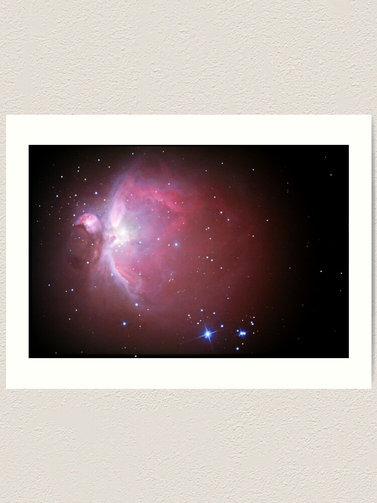 Alternate view of M42 nebula in orion Art Print