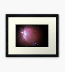 M42 nebula in orion Framed Print