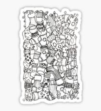 Christmas Stocking Patterned Doodle Sticker