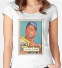Mickey Mantle 1952 Women's Fitted Scoop T-Shirt