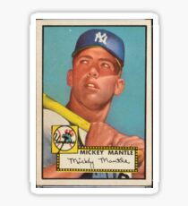 Mickey Mantle 1952 Sticker