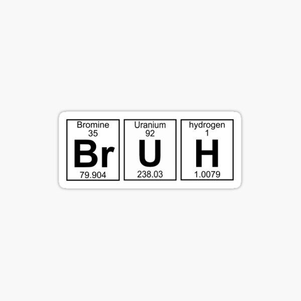 BRUH Element Aufkleber Sticker