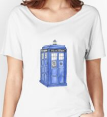 Watercolor Tardis Women's Relaxed Fit T-Shirt