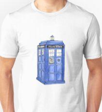 Watercolor Tardis Unisex T-Shirt