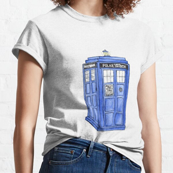 Watercolor Tardis Classic T-Shirt