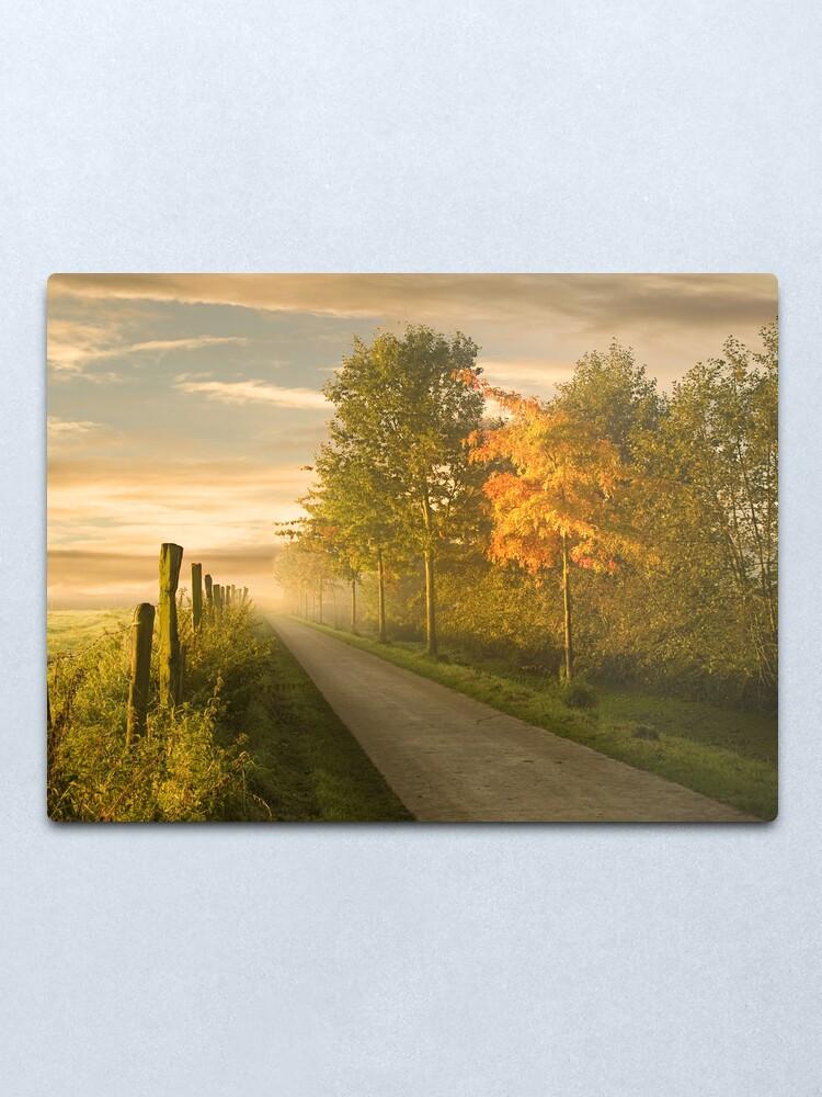 Alternate view of misty road Metal Print