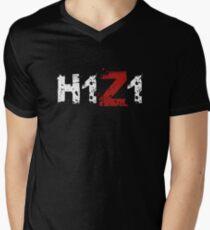 H1Z1: Title - White Ink Men's V-Neck T-Shirt