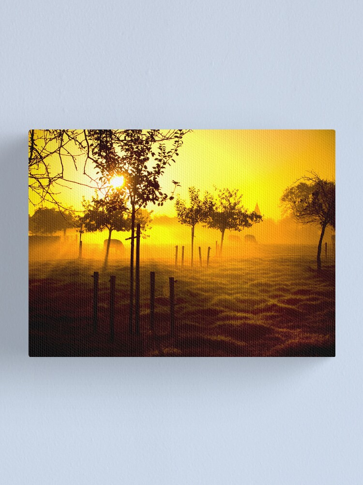 Alternate view of Grazing cows Canvas Print