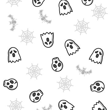 Halloween Ghost Skull TShirt and Phone Cover Pattern. Great party gift for friends by IATV