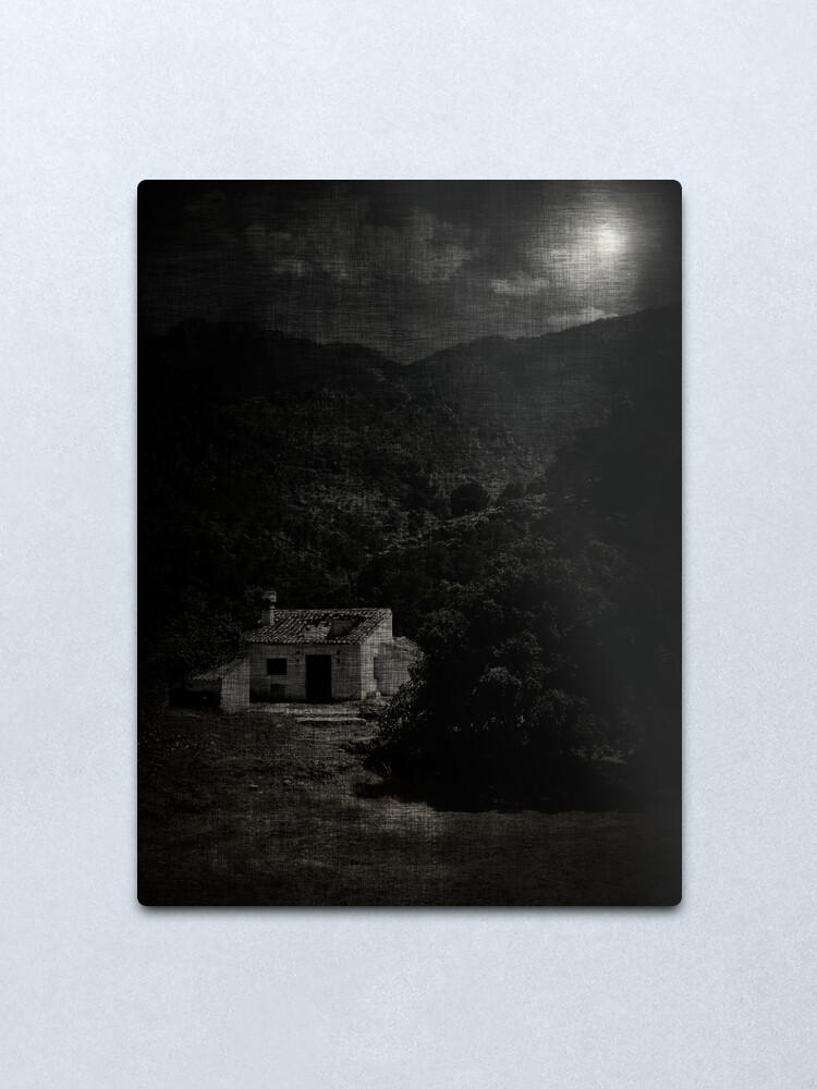 Alternate view of house; moonlight Metal Print