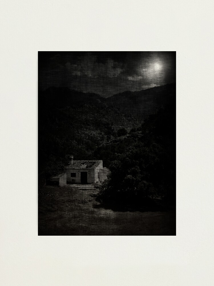 Alternate view of house; moonlight Photographic Print
