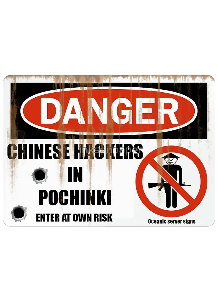 Danger Chinese Hackers Pubg By Inksonpaper Redbubble - danger chinese hackers pubg