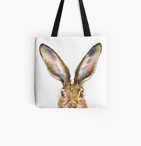 Hare All Over Print Tote Bag