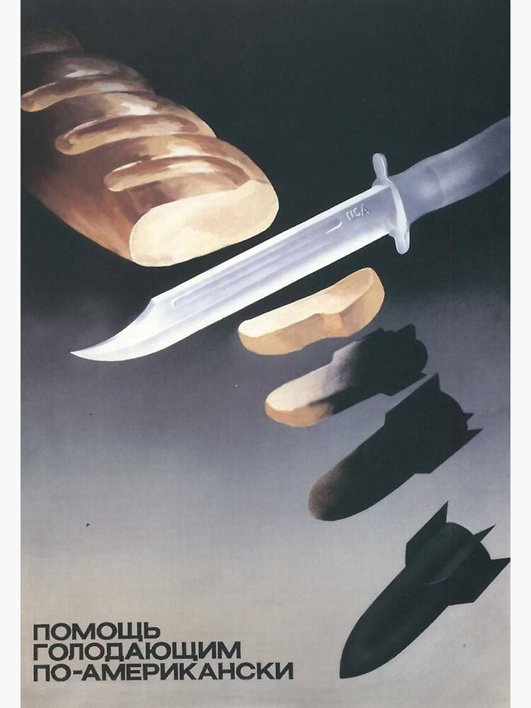 """""""Helping the starving, American-style"""", USSR Propaganda, c. 1970s by dru1138"""