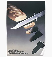 """Helping the starving, American-style"", USSR Propaganda, c. 1970s Poster"