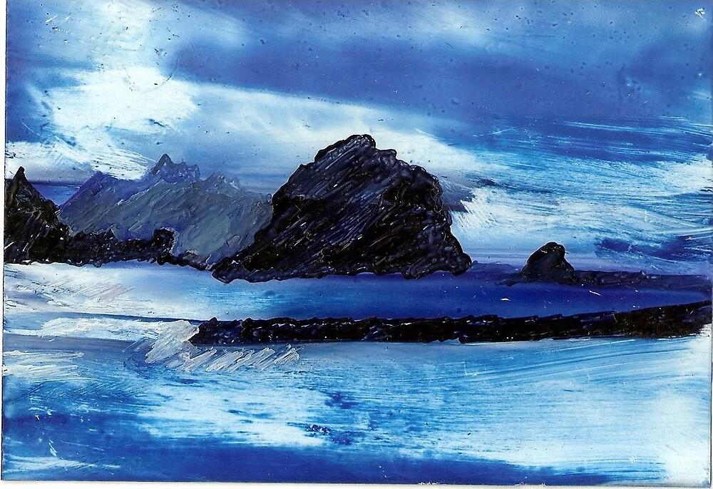 Blue remembered morning by Flavia