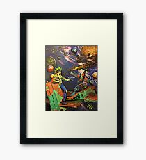 Staff Sergeant MotherFucker and the Quest for the HolyGrail Framed Print