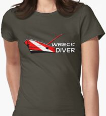 Wreck Diver Women's Fitted T-Shirt