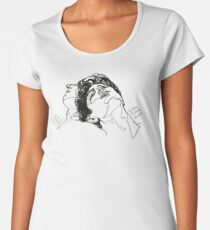 Elio and Oliver CMBYN Call me By Your Name line art Women's Premium T-Shirt