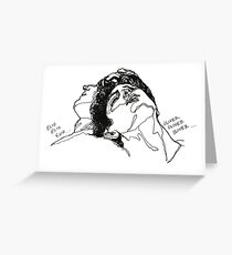 Elio and Oliver CMBYN Call me By Your Name line art Greeting Card