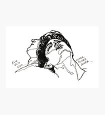 Elio and Oliver CMBYN Call me By Your Name line art Photographic Print
