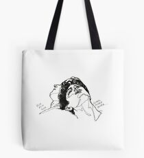 Elio and Oliver CMBYN Call me By Your Name line art Tote Bag