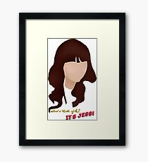 Who's that girl? It's Jess! Framed Print